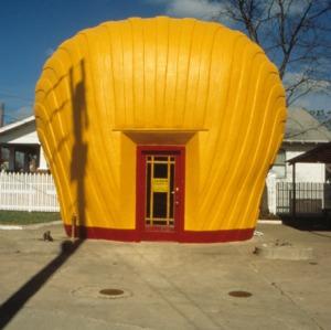 Exterior detail, Shell Station, Winston-Salem, Forsyth County, North Carolina