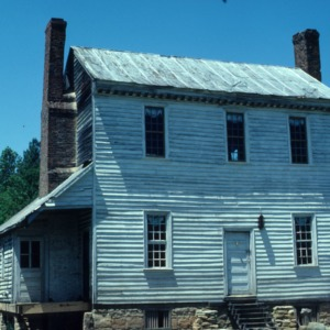 Rear view, Jones-Wright House (Polly Wright House), Franklin County, North Carolina