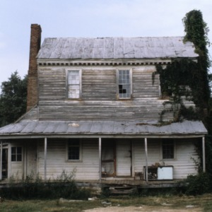 Front view, Jones-Wright House (Polly Wright House), Franklin County, North Carolina