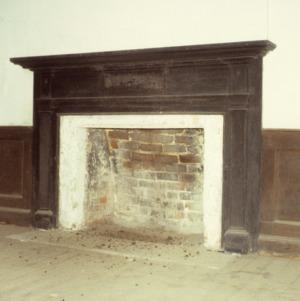 Fireplace, Massenburg Plantation (Woodleaf Plantation), Franklin County, North Carolina