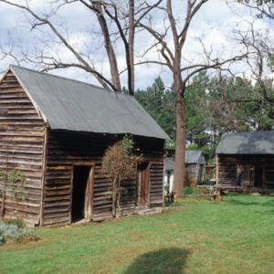 Outbuilding view, Massenburg Plantation (Woodleaf Plantation), Franklin County, North Carolina