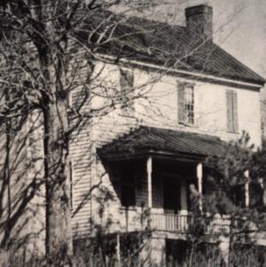 Front view, Massenburg Plantation (Woodleaf Plantation), Franklin County, North Carolina