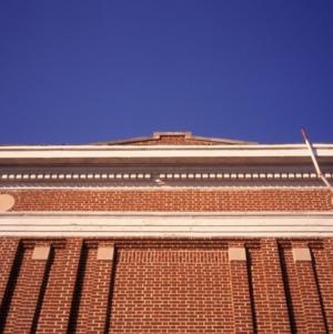 Exterior detail, Central School, Gastonia, Gaston County, North Carolina
