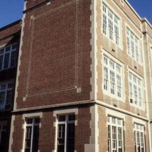 Partial view, Former Gastonia High School, Gastonia, Gaston County, North Carolina