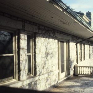 Partial view, Latham-Baker House, Greensboro, Guilford County, North Carolina