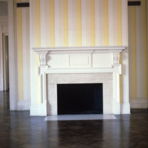 Interior view with fireplace, Latham-Baker House, Greensboro, Guilford County, North Carolina