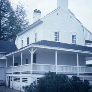 Side view, Mendenhall Plantation House, Jamestown, Guilford County, North Carolina