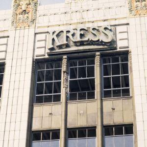 Exterior detail, S. H. Kress and Company Building, Greensboro, Guilford County, North Carolina