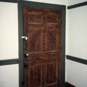 Doorway, Charles Benbow House, Oak Ridge, Guilford County, North Carolina