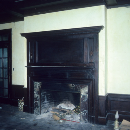 Fireplace, John Galloway House, Greensboro, Guilford County, North Carolina