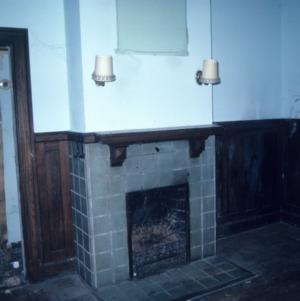 Fireplace, John Galloway House, Greensboro, Guilford County, North Carolina