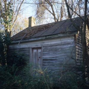 Outbuilding view, David A. Barnes House, Murfreesboro, Hertford County, North Carolina