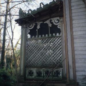 Exterior detail, David A. Barnes House, Murfreesboro, Hertford County, North Carolina