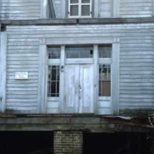 Doorway, Myrick-Yeates-Vaughn House, Murfreesboro, Hertford County, North Carolina