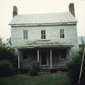 Front view, George Houston House (Walls-Houston House), Iredell County, North Carolina