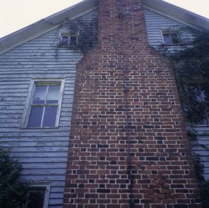 Chimney, George Houston House (Walls-Houston House), Iredell County, North Carolina