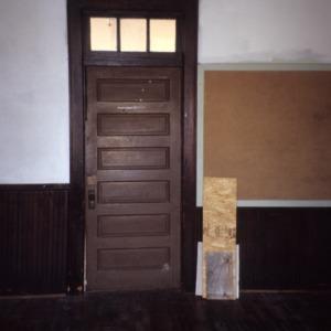 Doorway, Princeton Graded School, Princeton, Johnston County, North Carolina