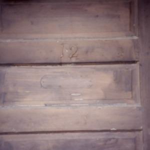 Door detail, Princeton Graded School, Princeton, Johnston County, North Carolina