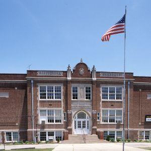 Front view, Selma Graded School, Selma, Johnston County, North Carolina