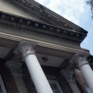 Exterior detail, Grainger High School, Kinston, Lenoir County, North Carolina