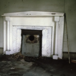 Fireplace, Caldwell-Cobb-Love House, Lincolnton, Lincoln County, North Carolina