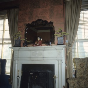 Interior view with fireplace, Machaven, Nash County, North Carolina