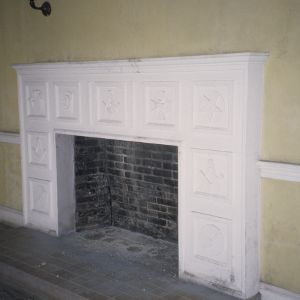 Fireplace, Masonic Temple, Rocky Mount, North Carolina