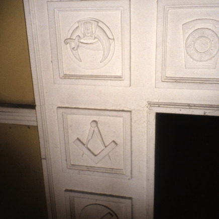 Interior detail, Masonic Temple, Rocky Mount, North Carolina
