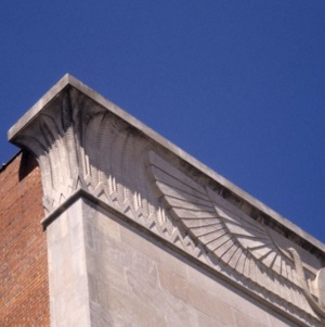 Corner detail, Masonic Temple, Rocky Mount, North Carolina