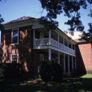 Side view, Greene-Sharpe House, Bakersville, Mitchell County, North Carolina