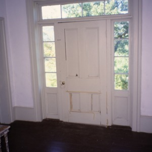 Interior view with door, Greene-Sharpe House, Bakersville, Mitchell County, North Carolina