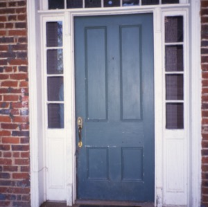 Door, Greene-Sharpe House, Bakersville, Mitchell County, North Carolina