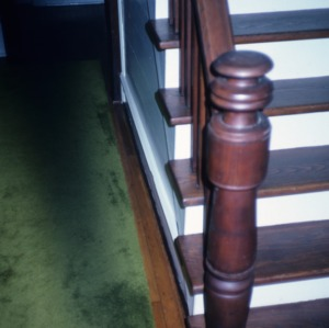 Stair detail, Gudger House, Bakersville, Mitchell County, North Carolina