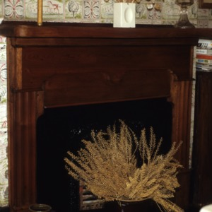Fireplace, Gudger House, Bakersville, Mitchell County, North Carolina