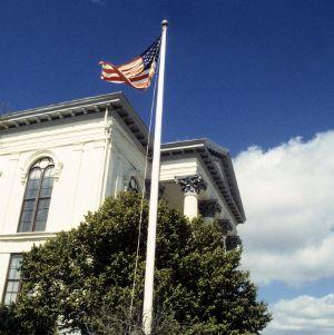 Partial view, City Hall-Thalian Hall, Wilmington, New Hanover County, North Carolina