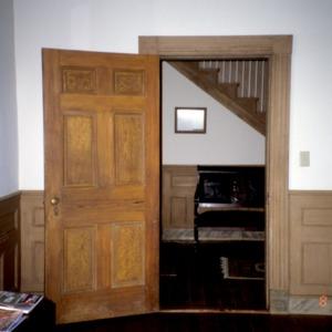 Interior view with door, Bingham School, Orange County, North Carolina