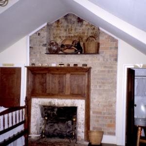 Interior view with fireplace, Bingham School, Orange County, North Carolina