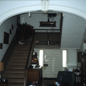 Interior view with stairs, Land's End, Perquimans County, North Carolina
