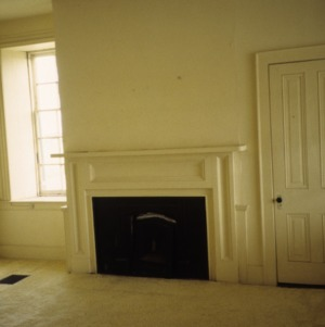 Interior view with fireplace, Land's End, Perquimans County, North Carolina