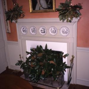 Mantel and fireplace, Bessie Jackson House, Polk County, North Carolina