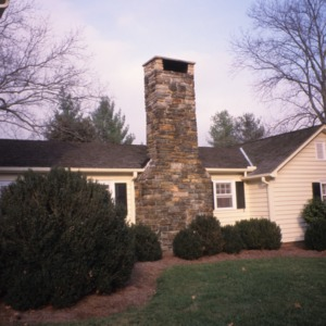 Partial view with chimney, Bessie Jackson House, Polk County, North Carolina