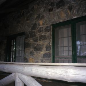 Porch detail, Rock House, Polk County, North Carolina