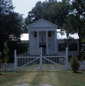 Front view with gate, Stockton, Woodville, Perquimans County, North Carolina