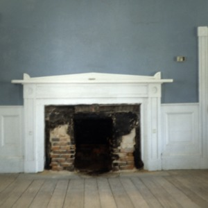 Interior view with fireplace, Stockton, Woodville, Perquimans County, North Carolina