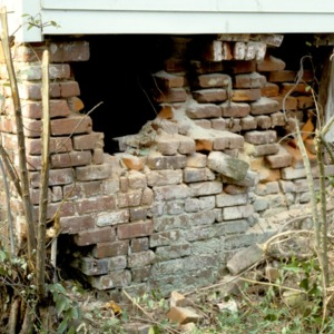 Foundational detail, Stockton, Woodville, Perquimans County, North Carolina