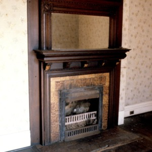 Fireplace, Dr. J. Howell Way House, Waynesville, Haywood County, North Carolina