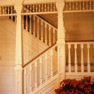 Stairs, Lowenstein House, Statesville, Iredell County, North Carolina