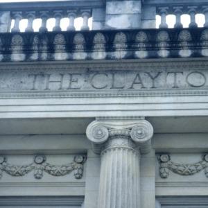 Exterior detail, (former) Clayton Banking Company Building, Clayton, Johnston County, North Carolina