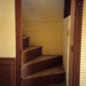 Interior view with stairs, Smithwick-Green Farm, Martin County, North Carolina