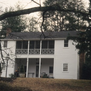 Rear view, Seven Hearths, Polk County, North Carolina